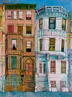 "Hugh Sullivan's ""Gilded Cages in Mount Morris Park"" for the 2013 ""In the Spirit"" art show for Black History Month"