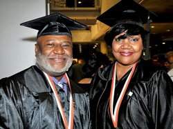 Graduates Edwin Deloatch and Verona Rowe are proud graduates of the Metropolitan Center class of 2013.