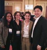Business, management and economics faculty Angela Titi Amayah, Sue Epstein, Julie Gedro and Sewon Kim presented the 2014 Academy of Human Resource Development 's annual conference. Photo/provided by Julie Gedro