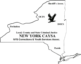 New York Corrections and Youth Services Association emblem