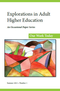 Explorations in Adult Higher Education - Summer 2011 cover